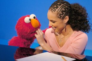Alicia Keys Visits Sesame Street