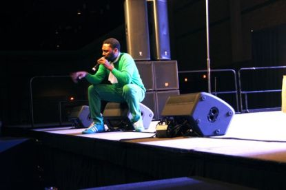 Big Daddy Kane performs at the Legends of HIp-Hop Show.