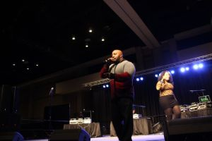 Eddie Owens hosts at the CIAA Legends of Hip-Hop Show