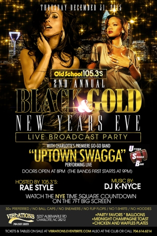 Black & Gold New Years Eve