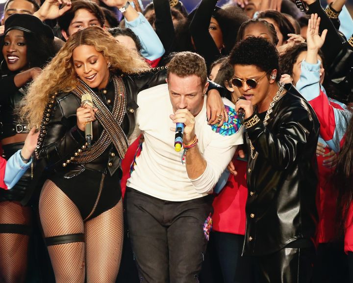 Coldplay, Beyonce and Bruno Mars