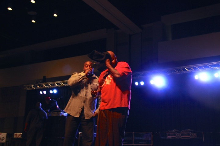 Eddie Owens and Chubb Rock at Legends of Hip-Hop Concert