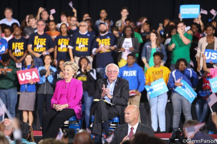 Bernie Sanders at Hillary Clinton Rally In Raleigh