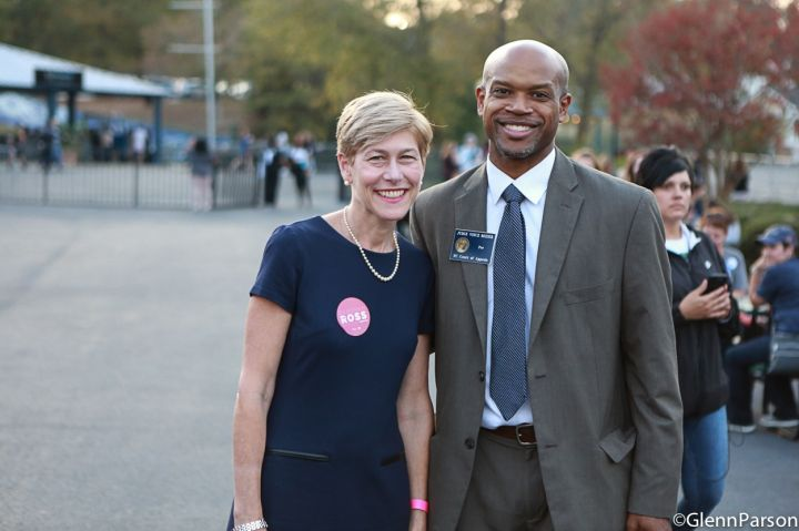Senate Candidate Deborah Ross At Hillary Clinton Rally In Raleigh