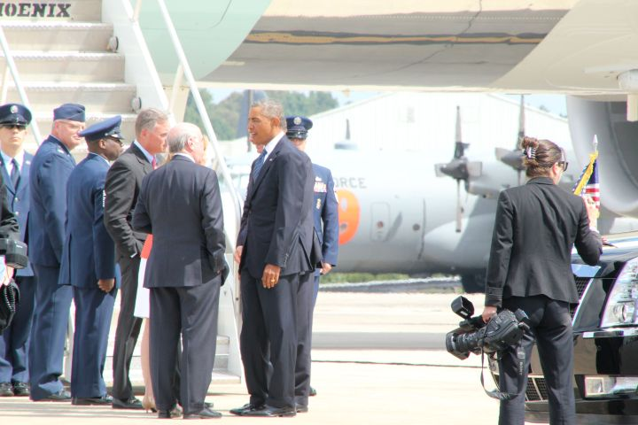 Obama In Charlotte August 2014