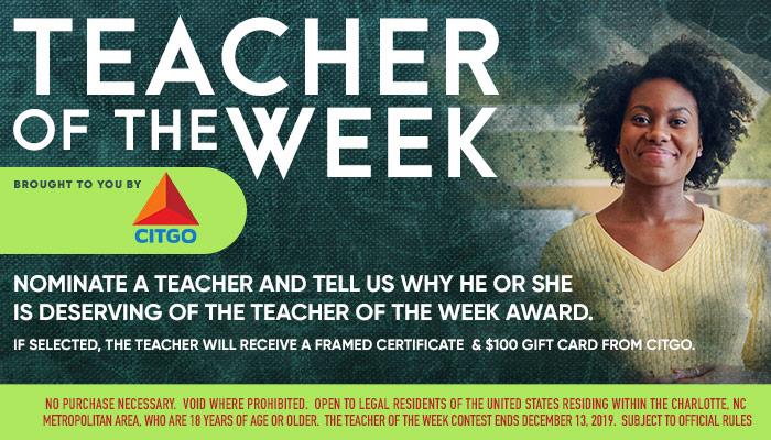 Charlotte - Citgo Teacher of the Week_RD Charlotte_September 2019