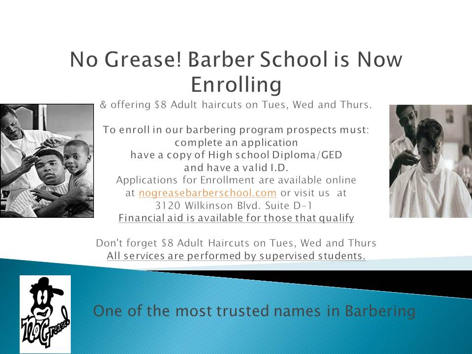 No Grease Barberschool August